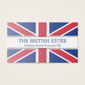 British / UK Flag Customizable Business Card