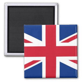 British - UK - Great Britain - Union Jack flag 2 Inch Square Magnet