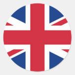 British - UK - Great Britain - Union Jack flag Classic Round Sticker