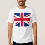 British - UK - Great Britain - Union Jack flag Tee Shirt
