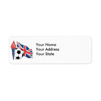 british UK soccer pride Label
