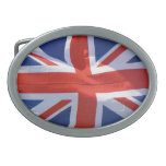 British Union Flag Union Jack Patriotic Design Oval Belt Buckle