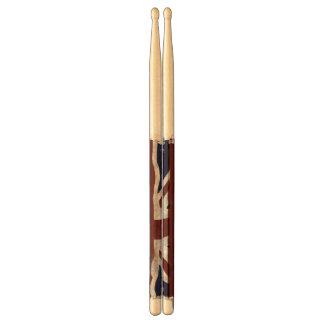 British Union flag Union Jack patriotic design Drumsticks