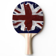 British Union flag Union Jack patriotic design Ping Pong Paddle