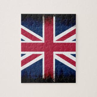 British Union Flag Union Jack Patriotic Design Jigsaw Puzzle