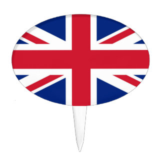 British Union Jack Oval Cake Toppers