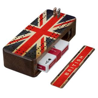 British Union Jack Custom Cribbage Board
