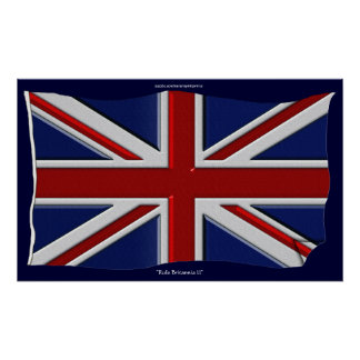 British Union Jack Flag Art Poster