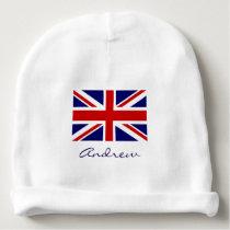 British Union Jack flag baby beanie hat for infant