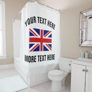 British Union Jack Flag Bathroom Shower Curtain