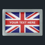 "British Union Jack flag belt buckle | Personalize<br><div class=""desc"">British Union Jack flag belt buckle. English pride flag of UK United Kingdom Great Britain. Trendy fashion accessory for men women and teen kids.</div>"