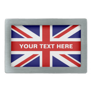 British Union Jack flag belt buckle | Personalize