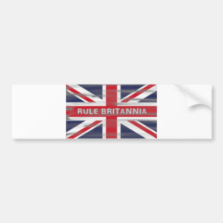 British Union Jack Flag Bumper Sticker