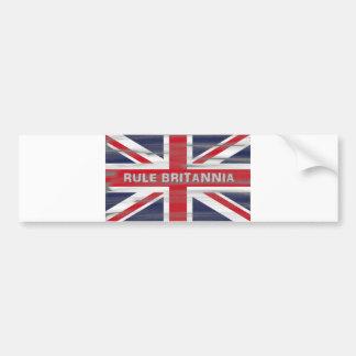 British Union Jack Flag Car Bumper Sticker