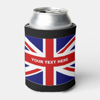British Union Jack flag can coolers | Personalize Can Cooler