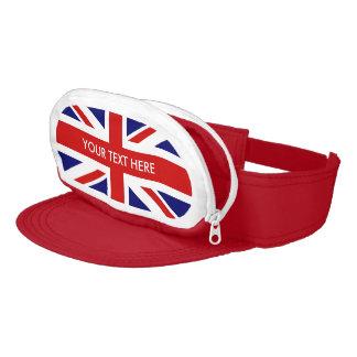 British Union Jack flag cap sac hat with wallet Visor
