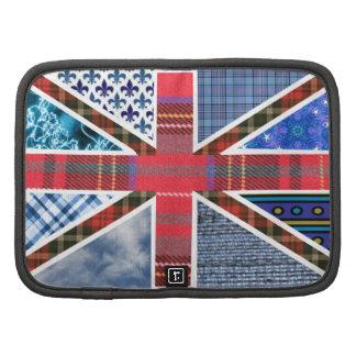 British Union Jack Flag Fabric Pattern design Folio Planner
