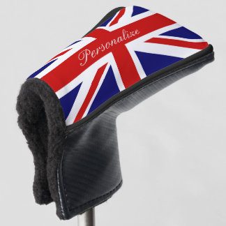 British Union Jack flag golf head putter cover