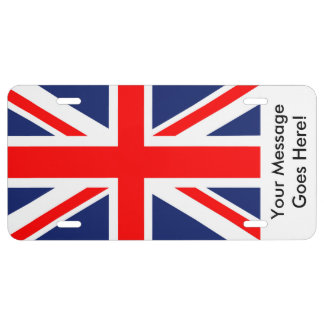 British Union Jack Flag License Plate