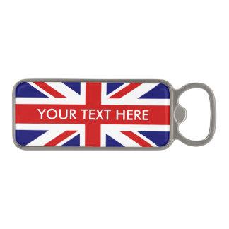 British Union Jack flag magnetic bottle opener