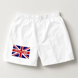 British Union Jack flag mens boxer short underwear