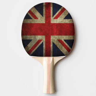 British Union Jack Flag of England Table Tennis Ping-Pong Paddle