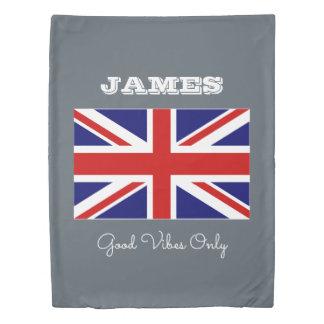 British Union Jack flag personalized duvet cover