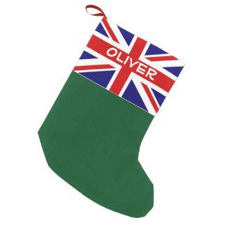 British Union Jack flag personalized Holiday Small Christmas Stocking
