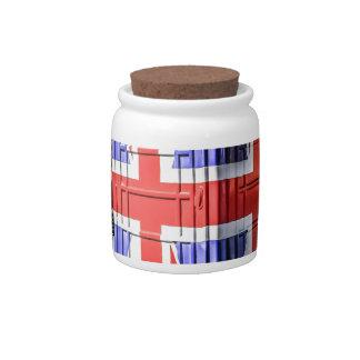 British Union Jack Flag Phone Box Candy Jars