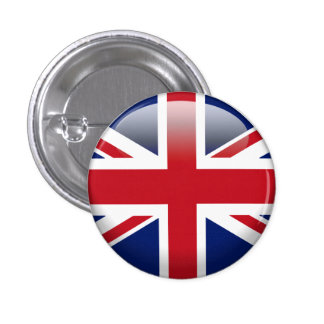 British Union Jack Flag Pinback Button