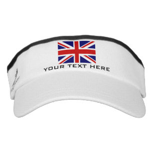 12f51d0f83feb British Union Jack flag sports sun visor cap hat