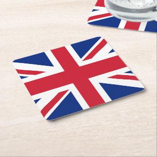British Union Jack Flag Square Paper Coaster
