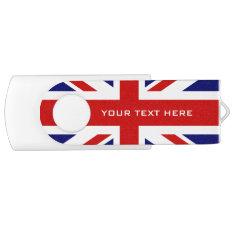 British Union Jack flag swivel USB flash drive at Zazzle