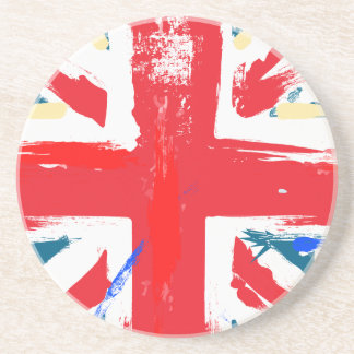 British Union Jack Flag Vintage Worn Drink Coaster
