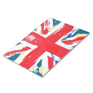 British Union Jack Flag Vintage Worn Notepad