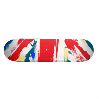 British Union Jack Flag Vintage Worn Skateboard Deck