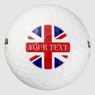 British Union Jack golf ball set | English pride