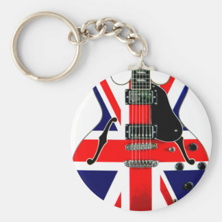 British Union Jack Guitar Keychain