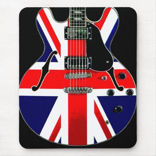 british union jack guitar mouse pad zazzle. Black Bedroom Furniture Sets. Home Design Ideas
