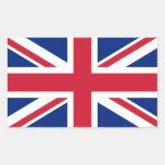 British Union Jack Rectangular Sticker