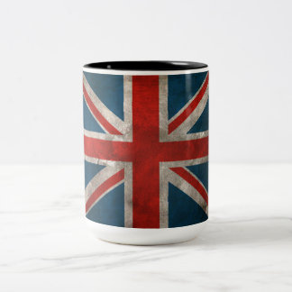 British Union Jack Two-Tone Coffee Mug