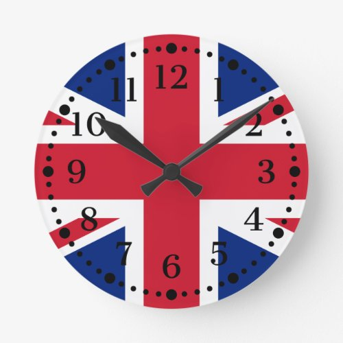 British Union Jack Wall Clock