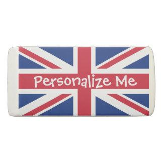 British United Kingdom Union Jack Personalized Eraser