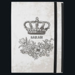 "British Victorian Floral Crown Stylish Vintage iPad Pro 12.9&quot; Case<br><div class=""desc"">Protect your iPad in Style with this &quot;Victorian Floral and Crown Stylish Vintage Grunge&quot; Personalized Case. You can add your text or monogram on this design. This personalized case will be printed on-demand and just for you!</div>"