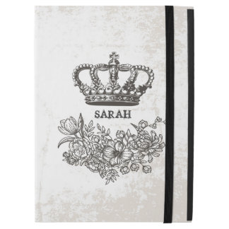 British Victorian Floral Crown Stylish Vintage iPad Pro Case