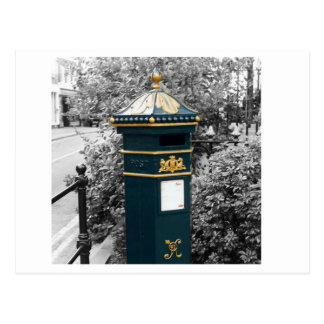 British Victorian pillar box - 1866 Post Card