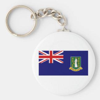 British Virgin Islands Basic Round Button Keychain