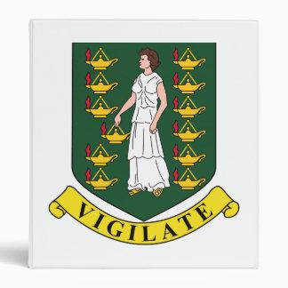 British Virgin Islands Coat Of Arms 3 Ring Binder
