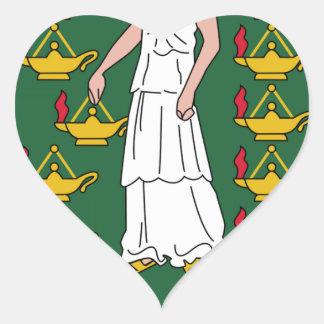 British Virgin Islands Coat of Arms Heart Sticker