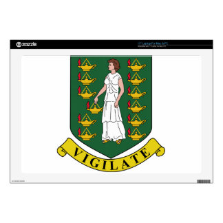 British Virgin Islands Coat of Arms Decal For Laptop